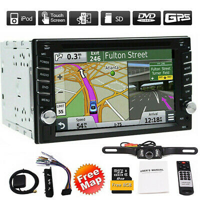 "6.2"" HD Double 2 DIN in Dash Car DVD Stereo GPS Navigation Radio +Back-Up Camera"