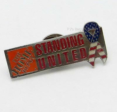 Home Depot Standing United USA Lapel Pin Commemorates 9/11 Anniversary