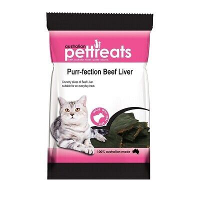 Purr-fection Australian Beef Liver Treats for Cats 60g - Made in Australia