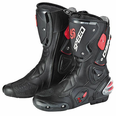 New 2 x Mens Motorcycle Racing Boots Waterproof Motocross Sport Motorbike Shoes