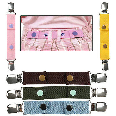 Unisex Children Jeans Pants Adjustable Elasticated Buckle Functional Clip Belts