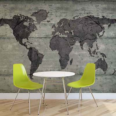 WALL MURAL PHOTO WALLPAPER XXL World Map Concrete Texture (2854WS)