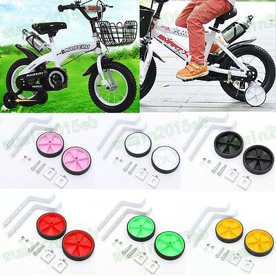 "Universal Easy Fit Child Safe Stabilisers Bike Cycle Bicycle 12-20""Wheel 6 Color"