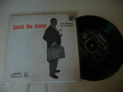 "LOUIS ARMSTRONG"" SATCH THE TRUMP- disco 45 giri EP(4 brani) RCA  It 1961"""