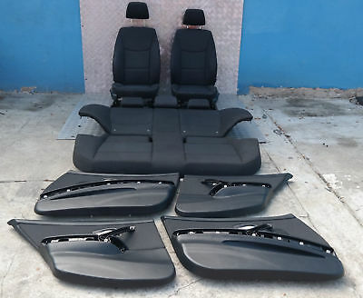 BMW 3 SERIES E90 LCi Lift Cloth Interior Seats with Airbag and Door Cards Black