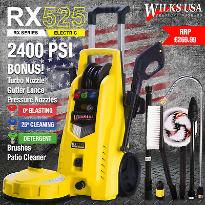 Electric Pressure Washer - 2400 PSI / 165 BAR Jet Power Patio Cleaner Wilks-USA