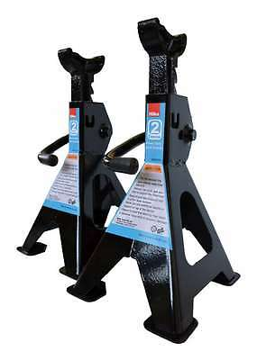 Heavy Duty Hilka 2 Ton Tonne Ratchet Action Axle Stand Stands 3Yr Warranty