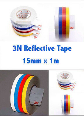 3M Yellow Reflective Tape 15MM x 1 M Adhesive Vehicle Safety Viny sticker Strip