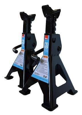 Heavy Duty Hilka 3 Ton Tonne Ratchet Action Axle Stand Stands 3Yr Warranty