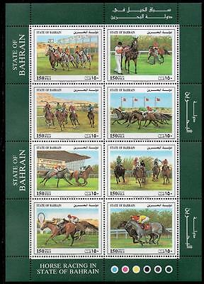Bahrain Mnh 1992 Horse Racing Sheetlet
