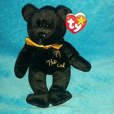 """The End"" Bear TY Beanie Baby Mint 1999 with Rare Tag"