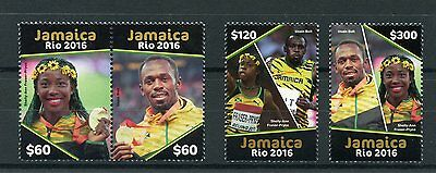 Jamaica 2016 MNH Summer Olympics Rio 2016 4v Set Olympic Games Usain Bolt Stamps