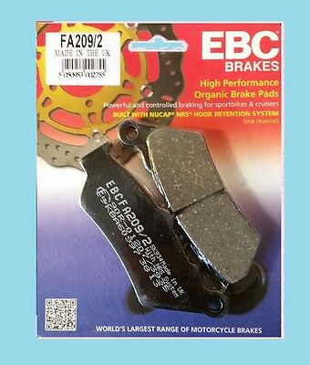 EBC FA209 Rear Brake Pads for BMW R R1200 GS & Adventure   2013 to 2015