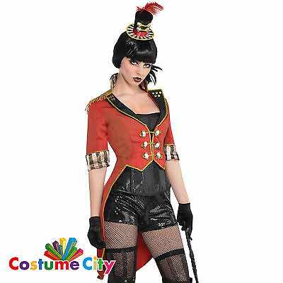 Womens Ladies Halloween Freakshow Circus Ringmaster Jacket Fancy Dress Accessory
