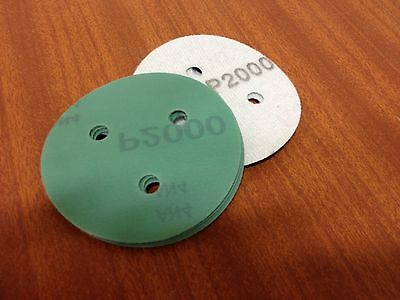 "P800 velcro abrasive disc  80mm 3 hole  Pack (15)  75mm  3"" Sanding Film Pads"