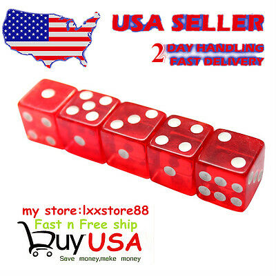 Brand New 19mm A Grade Serialized Set of Casino Dice-Red Craps 5pcs win win hot