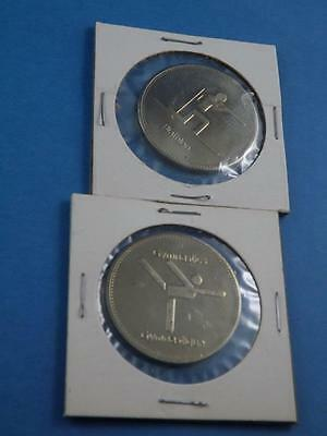 Olympic Trust Of Canada Token Coin Gymnastics Biathalon Vintage Lot Medallion