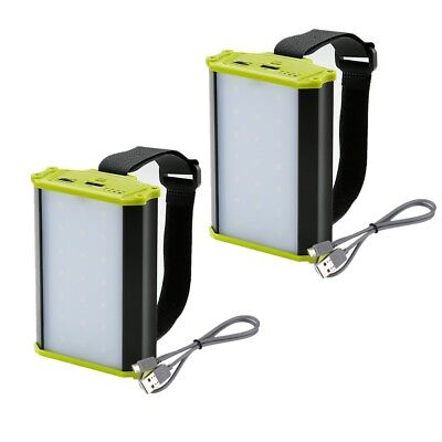 2er Dimmbar 3W 330lm LED Campinglampe Camping Laterne Notlicht mit Magnet IPX1