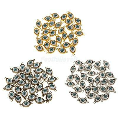 30pcs Alloy Evil Eye Charms Amulet Pendants for Jewelry Findings DIY