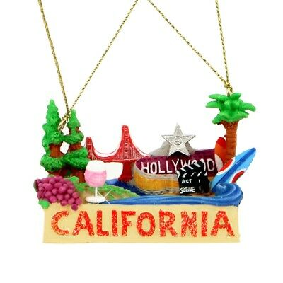 California Landmark Ornament - Hollywood, Golden Gate Bridge | Christmas Gift
