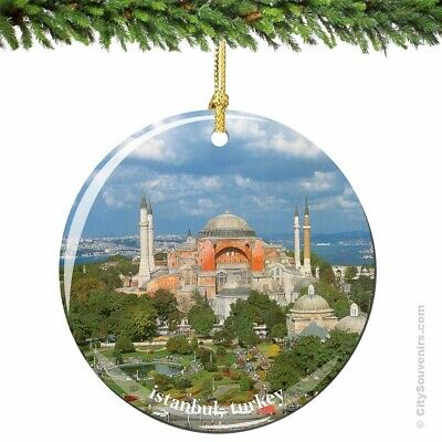 Istanbul Porcelain Christmas Ornament