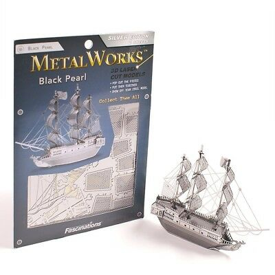 Black Pearl Pirate Ship 3D Laser Cut Model