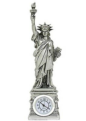 Silver Statue of Liberty Clock