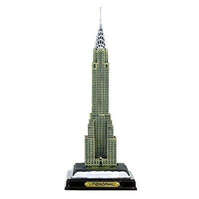 """11"""" Chrysler Building Statue with Wood Base, Chrysler Building Replica Model"""