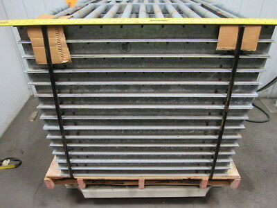"""WEIRTON STEEL 24"""" Roller Conveyor 38"""" Sections 21-1/2""""x1-1/2""""Rollers Lot/14 Pcs"""