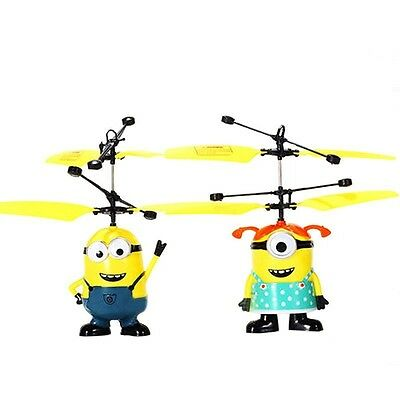 Fly Minion Toy RC Helicopter Radio Sensor Remote Control Mini RC Helicopter  Ran