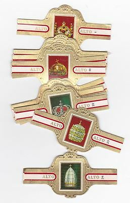 24 cigar bands Alto CROWNS  iss in 1971