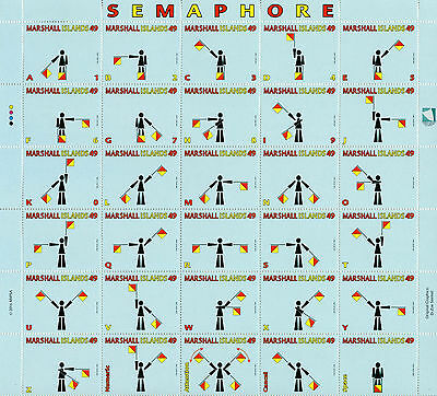Marshall Islands 2016 MNH Semaphore Signals 30v M/S Flags Stamps