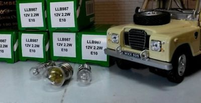 Land Rover Series 1 2 2a Dash light bulbs LED E10 Warm White Original Look x6