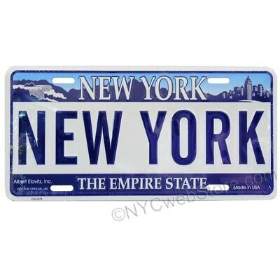 New York State License Plate - Official Size Embossed Aluminum Souvenir Gift