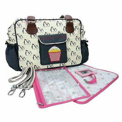 Pink Lining Yummy Mummy Baby Changing Bag Penguin Love New with tags