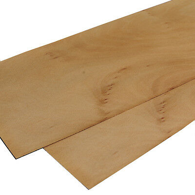 "Wood veneer - Baltic birch - 4 leafs:  22"" x 6"" ( 56 cm x 16 cm )"