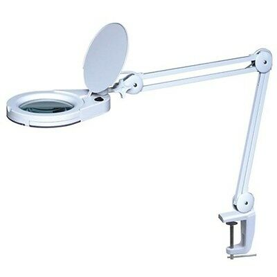 Greenlife LED Magnifying Lamp with Clamp. 5X Magnification, 360° Swivel Head