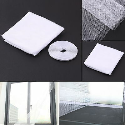 White Anti-Insect Fly Bug Mosquito Window Curtain Net Mesh Screen Protector new