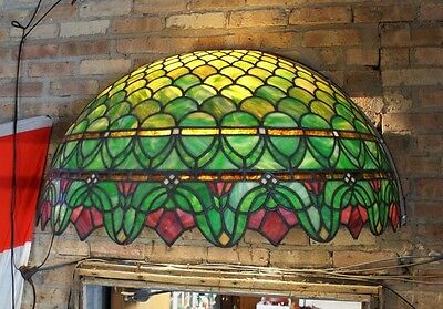 Turn of the Century Stained Glass Canopy for Back Bar R. Williamson Mfg. Chicago