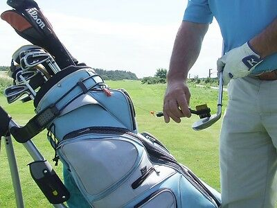 Deluxe Golf Club Cleaning Brush with Metal Retractable Reel + FREE TEE BAG