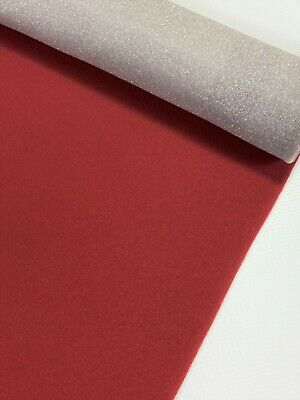 """Auto Pro Headliner Fabric Classic Red Upholstery 3/16"""" Foam Backing 72""""L X 60""""W"""