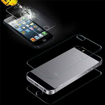 9H Hardness Front+Back Tempered Film Glass Screen Protector For iPhone 4S 5 6 US
