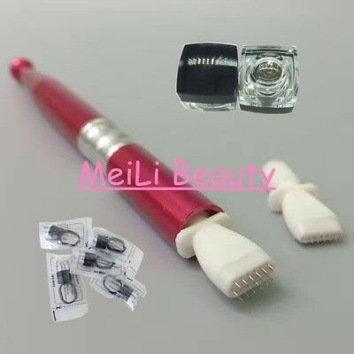 Smudging Microblading Needle Permanent Makeup Tattoo Manual Pen Ink Finger Cup