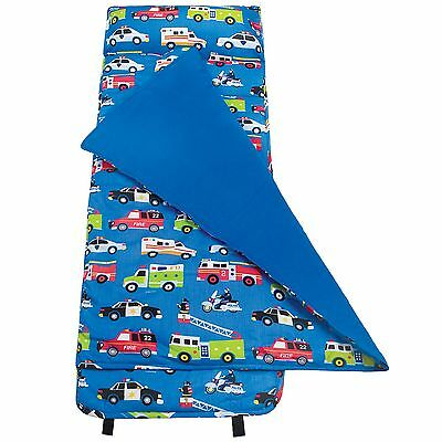 Olive Kids Blue Heroes Roll-Up Travel Nap Mat Boys Age 3-6