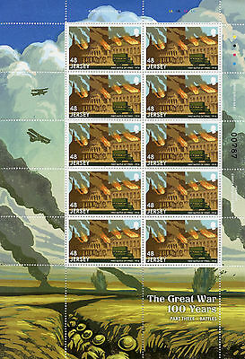 Jersey 2016 MNH WWI Great War Pt III Battles 6x 10v M/S Gallipoli Somme Stamps