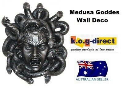 Medusa Goddess Decorative Figurine Collectable Wall Deco Fantasy Statue