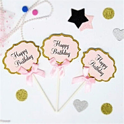 Happy Birthday Cupcake Toppers - Set of 5