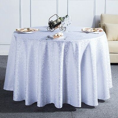1M Round Tablecloth Table Cover Cloth Flower Pattern Wedding Party Banquet