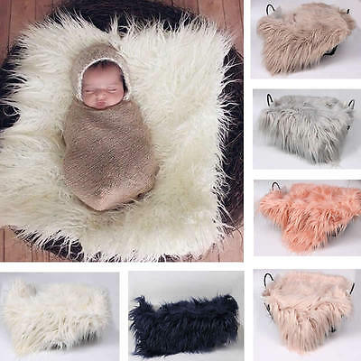 Newborn Baby Photography Photo Props Filler Wrap Wool Baby Swaddle Wrap Blanket