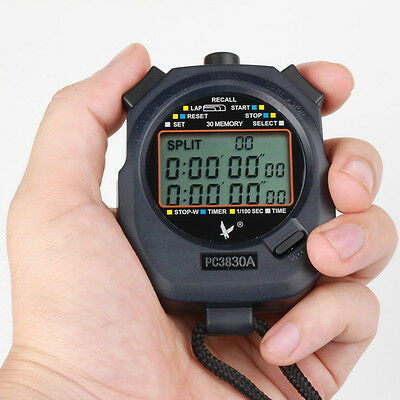 Professional Digital Running Timer Chronograph Stopwatch Stop Watch Counter
